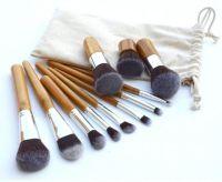 Best Selling 11pcs Hign Quality Portable Bamboo Handle Makeup Brush Set Mini Kit