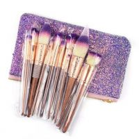 17 PCS New Makeup Brush with Glitter Bag Best Price Ever