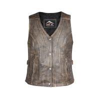 Ladies motorbike leather vest