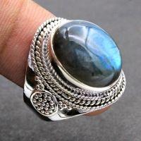 Sterling Silver Healing Labradorite Ring - Labradorite Ring - Quality Genmstone -  Sterling Silver Ring