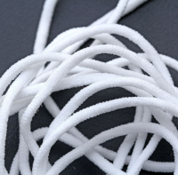 round 2.8mm white earloop  Polyester Spandex elastic  band