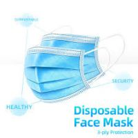 Wholesale High Quality blue disposable 3 ply face mask