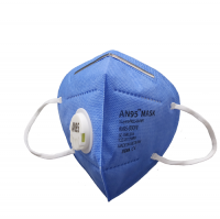 AN95 respirator mask 5ply (valve, blue) CE Certified KN95, N95 disposable mask