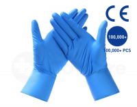 Blue Disposable Nitril gloves and white latex gloves