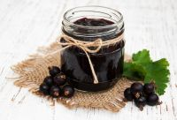 Healthy and nutritious blackcurrant jam