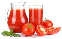 Delicious natural tomato juice