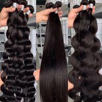 12A Grade High Quality Double Drawn Raw Virgin Cuticle Aligned Human Hair Bundles, Human Hair Extension Vendors