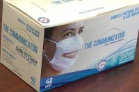 Clear View Surgical Face Mask with Clear Window (Case of 10 Dispenser Boxes 400 Masks Total)