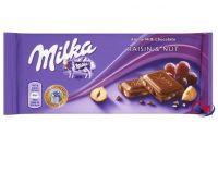 MILKA RAISINS & NUTS CHOCOLATE 100g for sale bulk quantity available
