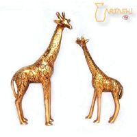 SELL Handmade Giraffe Pair in Pure Brass