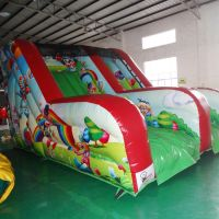 New Style 2 Lanes Inflatable Clown Dry Slide for kid