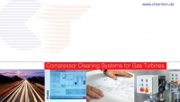 Gas turbine compressor cleaning system