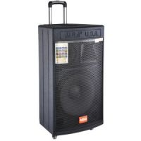 15 inch Super Bass MDF Wood Professional Active Stage Speaker with UHF wireless microphones
