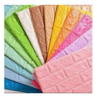 Different Color Home Decoration Interior PE Foam Wall Sticker CE Certificate PVC 3D Wallpaper