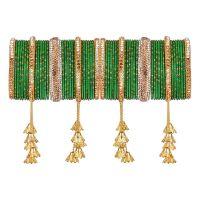 Indian Bangle Set Boho Antique Oxidized Indian Jewelry Rhinestone Crystal Metal Bracelet Bangle Set