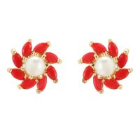 Indian Bollywood Designer 18 k Gold Plated Traditional CZ Stud Earrings Jewelry for Women and Girls Gift for Her
