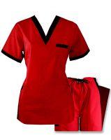 Nursing Uniforms Two Tone Designer Set