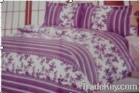 Promotion Sell Stock 100% Polyester Mircrofiber Printed Bedding Set
