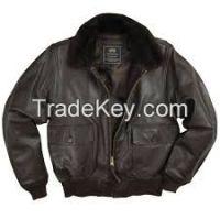 Fur collar pilot leather jackets