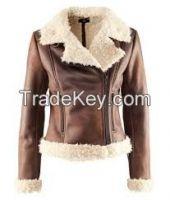 Women fur lining leather jackets