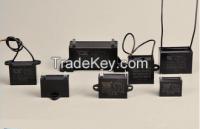Plastic fan capacitor (CBB61 capacitor, compressor capacitor, air conditioner capacitor)