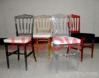 napoleon chair, resin napoleon chair, clear napoleon chair