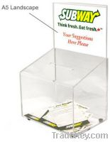 Sell acrylic suggestion boxes