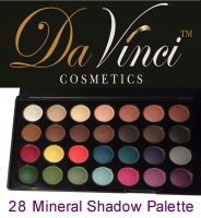 Mineral Pressed Eye Shadow Palette with 28 Colors all Matte / Da Vinci Cosmetics