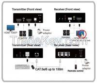 HDMI USB Touch-screen extender 150m-1080P, network hub extending