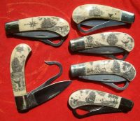 Scrimshaw Knives and Polynesian Pendants