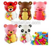 Piggy bank bear bottle Building blocks(48pcs)