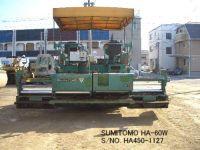 USED SUMITOMO MODEL HA60W ASPHALT FINISHER S/NO. HA450-1127