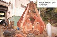 USED CODE NO. WT-5M3-OB-59H (CAPACITY 5M3) ORANGE PEEL BUCKET.