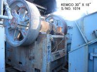 "USED ""KEMCO"" MODEL S4 (30"" X 18"") SINGLE TOGGLE JAW CRUSHER S/NO. 1074"