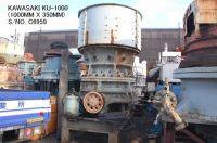 USED KAWASAKI MODEL KU-1000 ULTRA COARSE GYRATORY CRUSHER S/NO. C6959