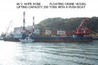 USED FLOATING CRANE VESSEL LIFTING CAPACITY 250 TONS WITH PUSH BOAT