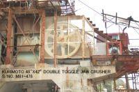 "USED ""KURIMOTO"" 48"" X 42"" DOUBLE TOGGLE JAW CRUSHER S/NO. M81-478"