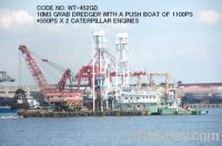 USED 10M3 GRAB DREDGER WITH A PUSH BOAT OF 1100PS (550PS X 2 ENGINES)