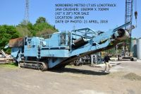 USED NORDBERG METSO LOKOTRACK MODEL LT105 MOBILE JAW CRUSHER