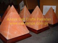 Himalayan Pyramid Salt Lamps/Himalayan Crafted Pink Salt Lamps/Crystal Salt Lamps/Ionic Salt Lamps/Crafted Flower Salt Lamps