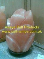 Rose Flower Salt Lamps/Himalayan Pink Rock Salt Flower Lamps/ Himalayan Rose Flower Salt Ionziers