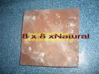 """Himalayan Crystal Rock Salt Tiles, Bricks & Blocks (8"""" x 8"""" x Natural One Side Cut"""")"""