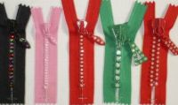 Sell diamand  Rhinestone  invisible nylon zipper