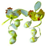 Sell easter decoration of patined chickling & eggs
