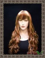 Sell  front lace  wig synthetic hairs