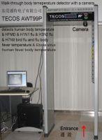 Walkthrough body temperature detector gate, Walk-through scan virus & flu medical body thermometer gate