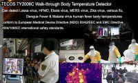 Walk-through big range virus and flu body fever scanner, COVID-19 virus and flu body fever thermal camera scanner