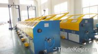 Multi die continuous wire drawing machine