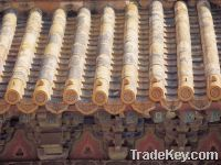Antique roofing material for temple