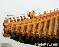 Garden gazebo tiles traditional Chinese materials